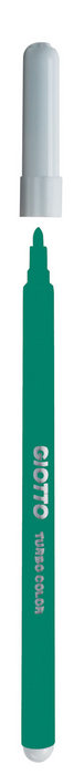 Rotulador giotto turbo color verde oscuro caja 12 ud
