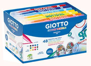 Rotulador giotto decor textile schoolpack 48 ud