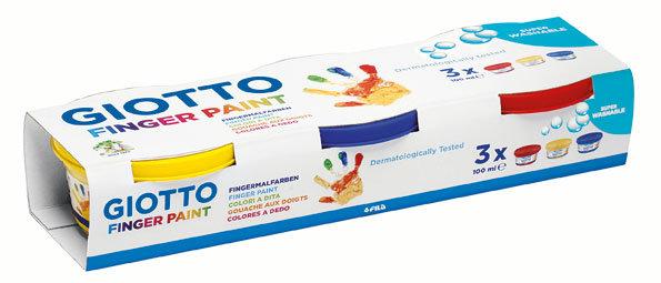 Pintura a dedos giotto 100 ml estuche 3 botes