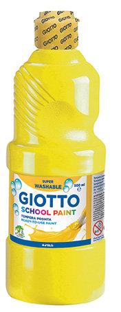 Tempera escolar giotto 500ml amarillo