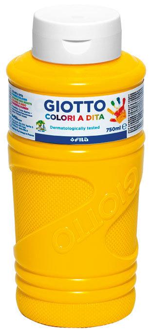 Pintura a dedos giotto amarillo 750 ml