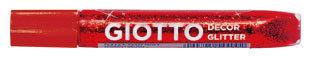 Giotto decor glitter glue rojo 10.5 ml caja 20 ud