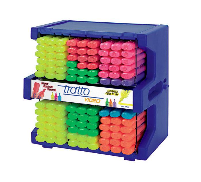 Expositor 108 marcadores tratto video fluor