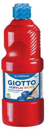 Tempera giotto acrilica rojo 500 ml