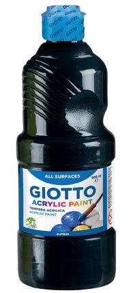 Tempera giotto acrilica negro 500 ml