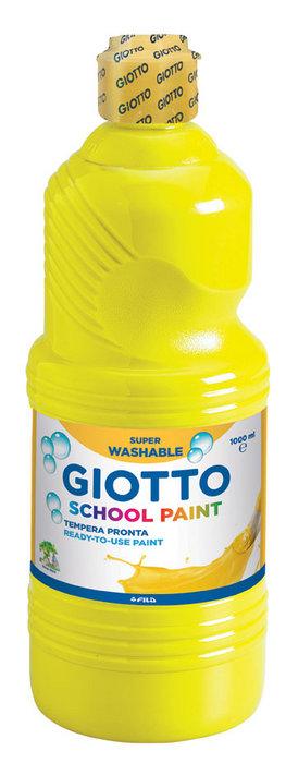 Tempera lavable giotto amarillo 1000 ml