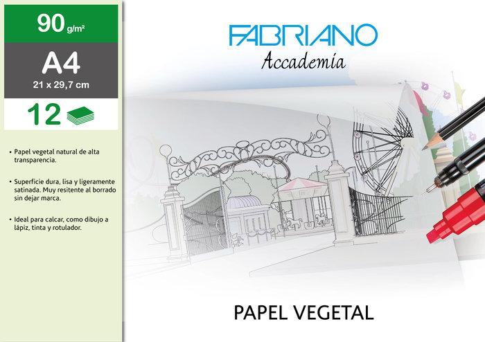Sobre papel vegetal a4 90g/m² 12h