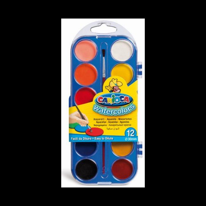 Acuarelas carioca 12 colores