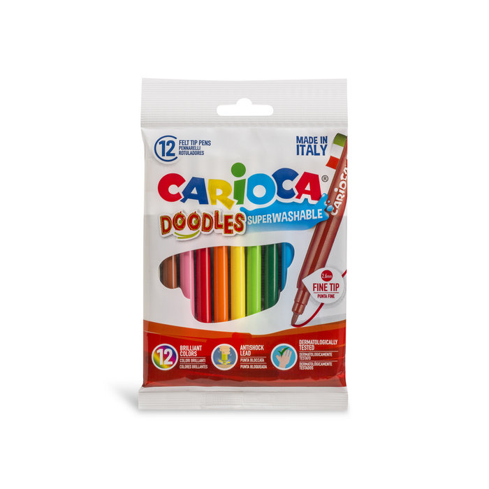 Rotuladores doodles flow pack 12 uds