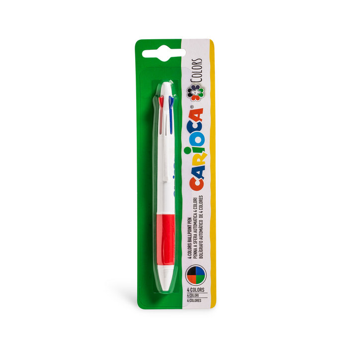 Boligrafo 4 colores blister 1 ud