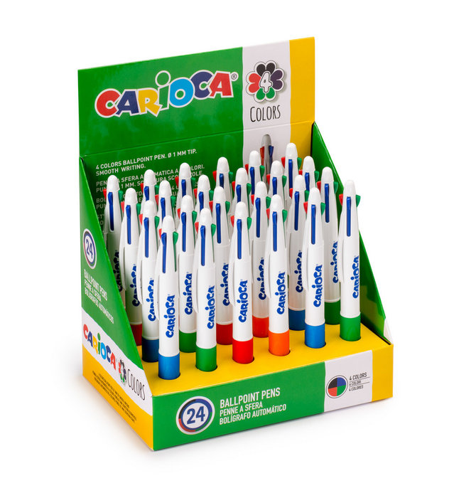 Boligrafos carioca maxi 4 colores