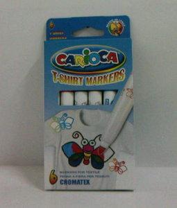 Rotulador carioca 6/c cromatex tela