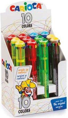 Boligrafos carioca maxi fluo 10 colores