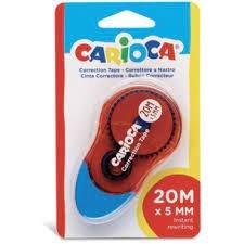 Cinta correctora carioca 20m blister 1 ud