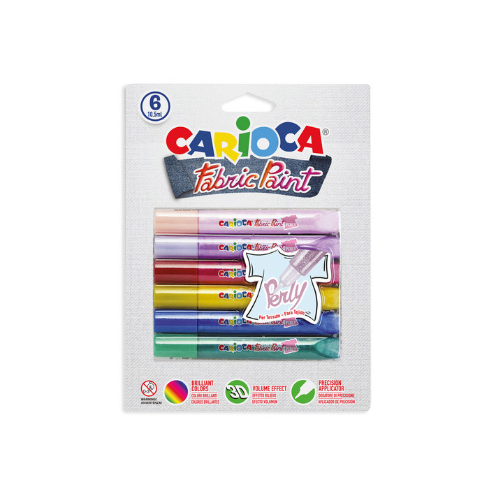 Cola textil fabric perly 10,5 ml. blister 6 uds
