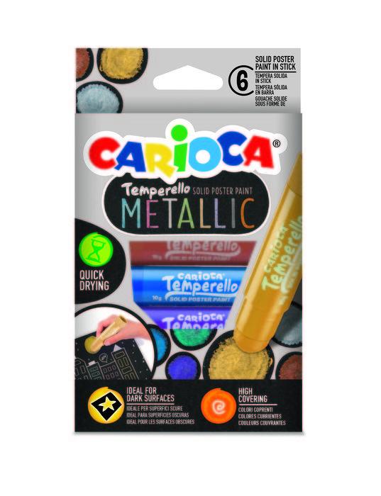 Temperas temperello metallic caja 6 uds