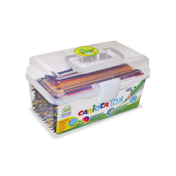 Lapices tita caja plastica 120 uds