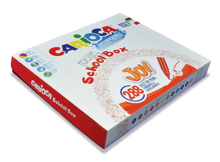 Rotuladores carioca joy schoolbox 288 uds