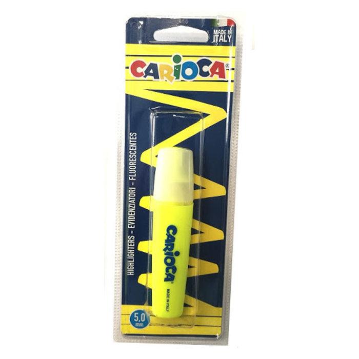 Marcador carioca memolight amarillo blister 1 ud
