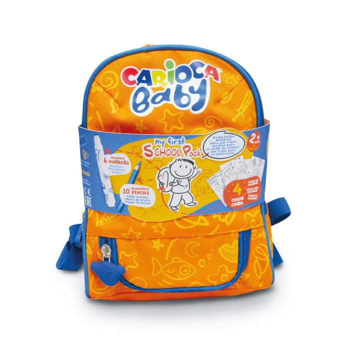 Carioca baby mochila con articulos escolares
