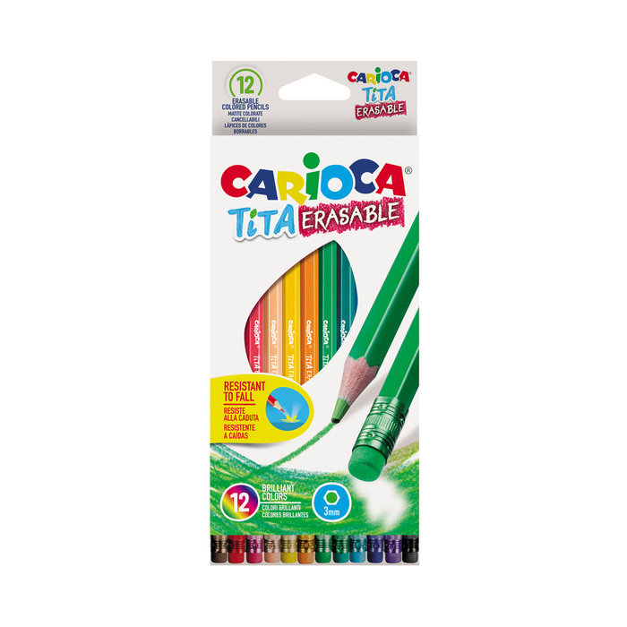 Lapices borrables tita erasable caja 12 uds