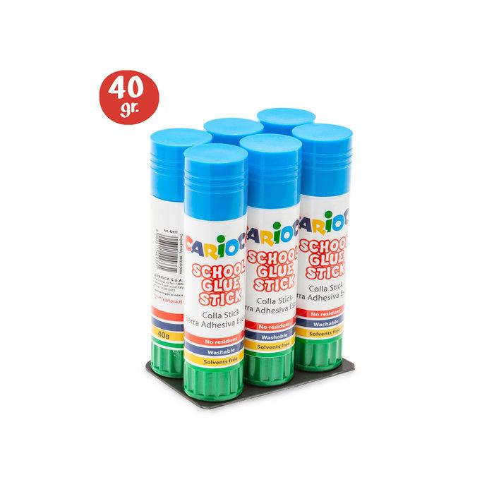 Pegamento glue stick 40 gr bolsa 6 uds