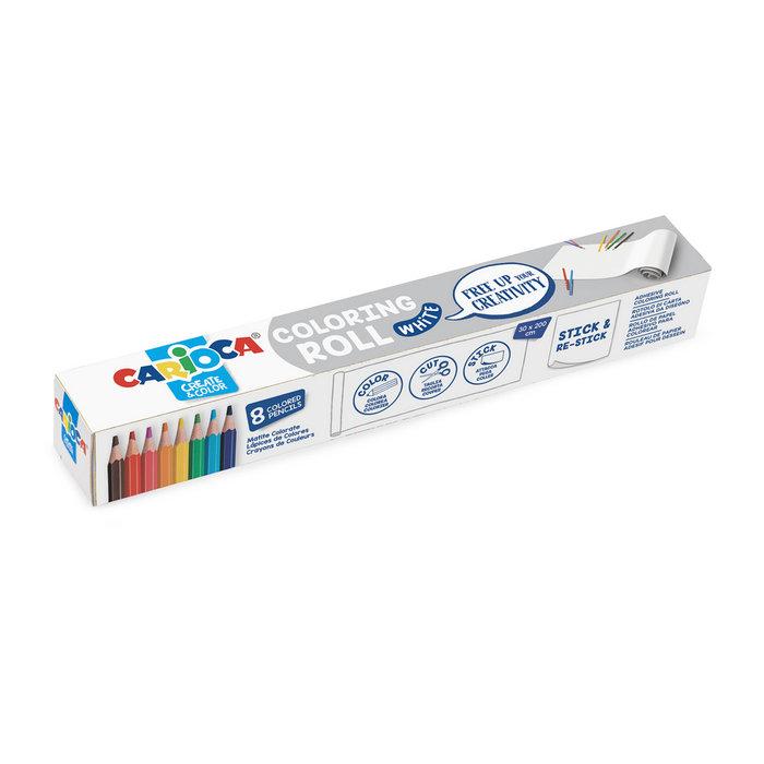 Carioca create & color coloring roll white