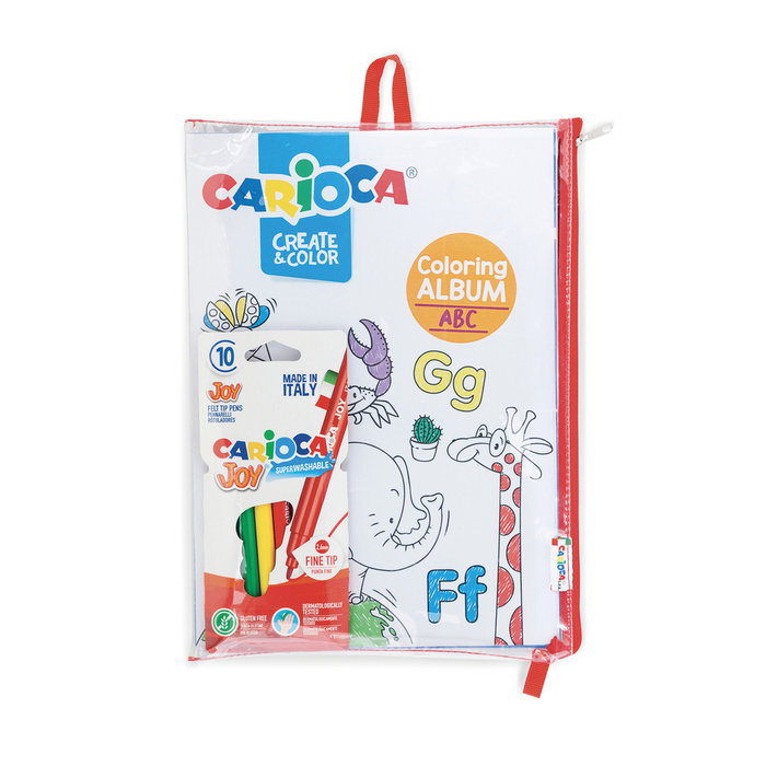 Carioca create & color coloring album abc & number