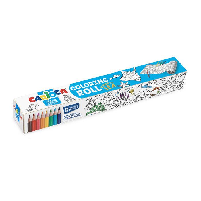 Carioca create & color coloring roll under the sea