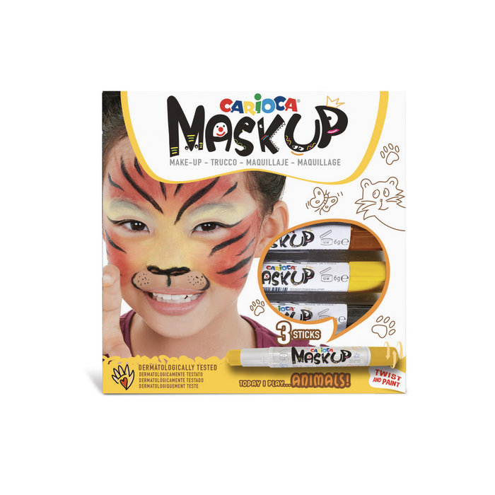 Barras maquillaje mask up animals caja 3 uds