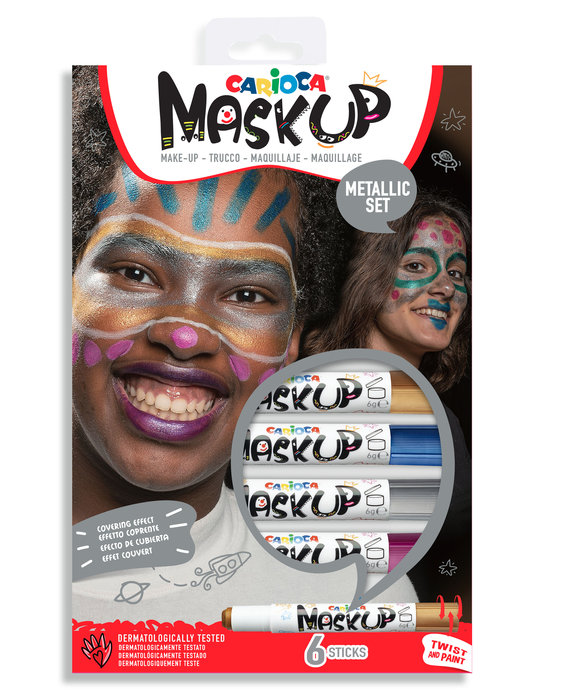 Maquillaje mask up metallic 6 colores