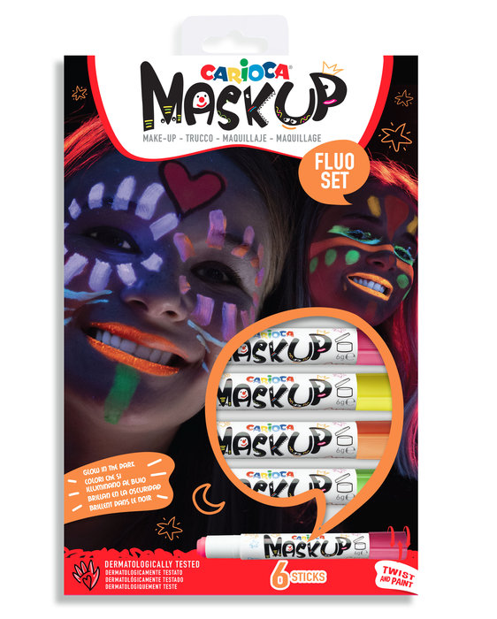 Maquillaje mask up neon 6 colores