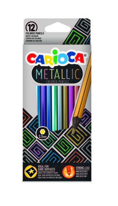 Lapiz carioca metallic 12 colores