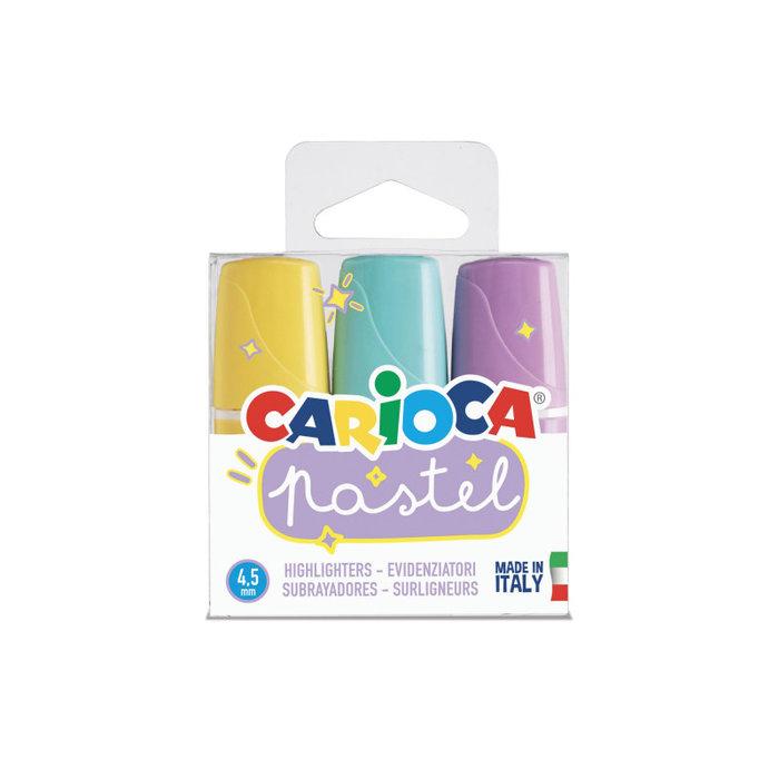 Marcador carioca pastel minilight 3 uds