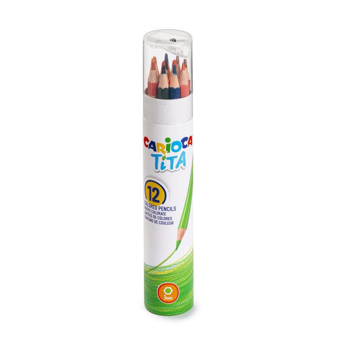 Lapiz carioca tita tube 12 colores + afilalapiz