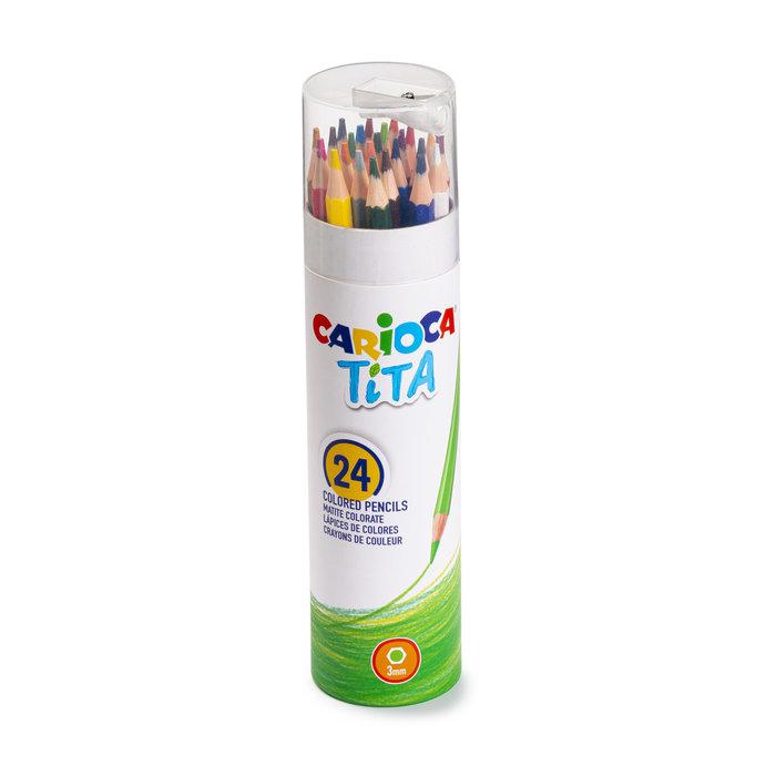 Lapiz carioca tita tube 24 colores + afilalapiz
