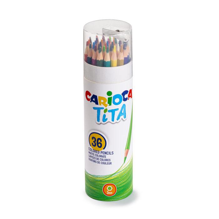 Lapiz carioca tita tube 36 colores + afilalapiz