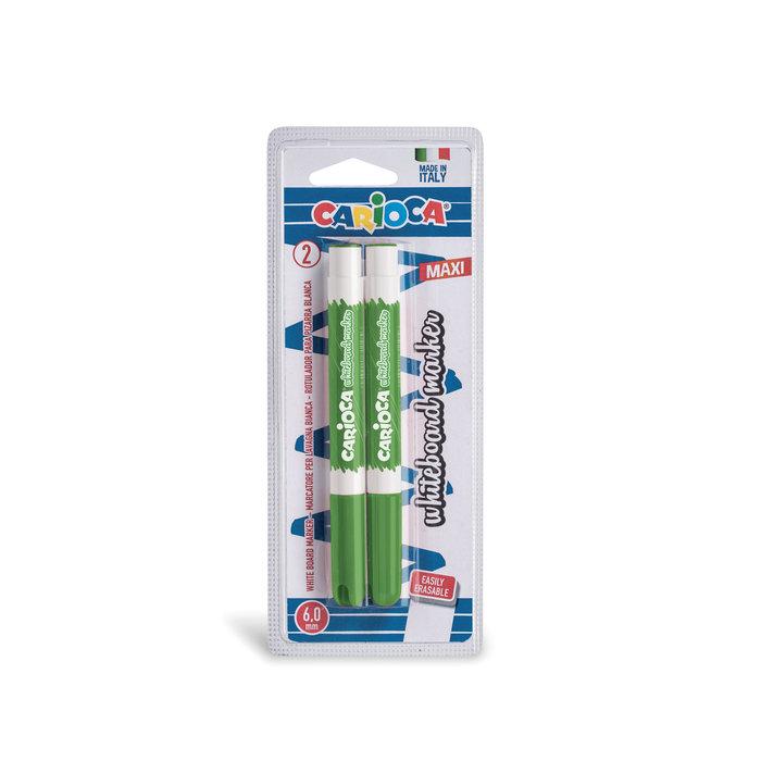 Rotulador pizarra carioca punta fina verde blister 2 uds