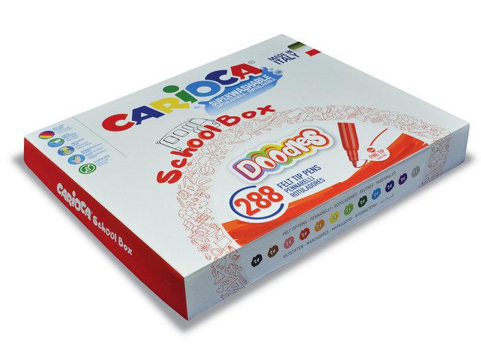 Rotuladores doodles schoolbox 288 uds