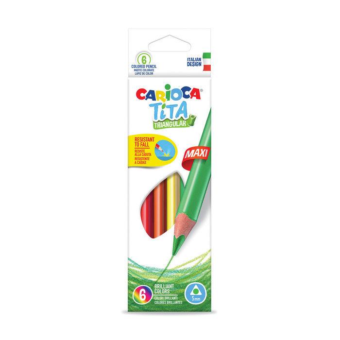Lapices tita triangular maxi caja 6 uds