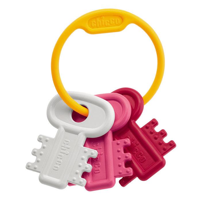 Sonajero llaves coloreadas rosa
