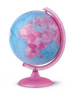 Esfera 25cm con luz rosa desmontada