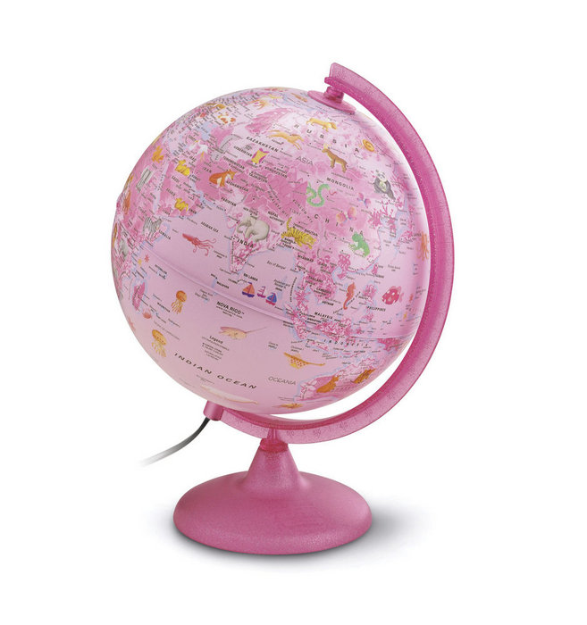 Esfera color pink zoo 25 cms