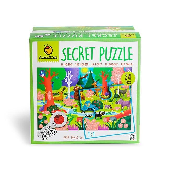 Puzle secreto del bosque 24 piezas