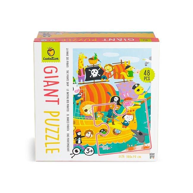 Puzzle gigante del barco pirata  48 piezas