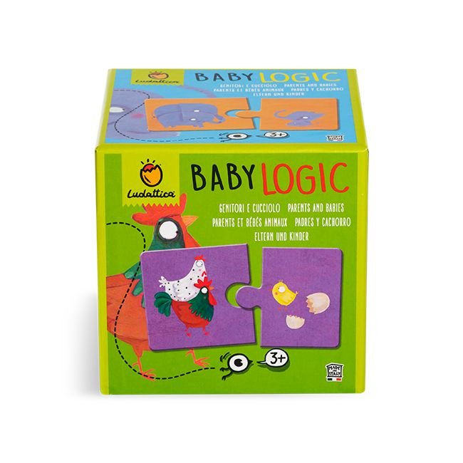 Puzzle baby logic madres, padres y cachorros