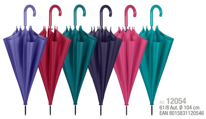 Paraguas mujer 61/8 automatico . surtido de colores lisos