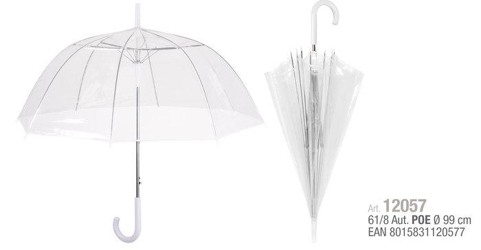 Paraguas mujer 61/8 automatico. poe transparente