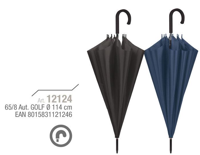 Paraguas hombre 65/8 automatico golf color liso oscuro