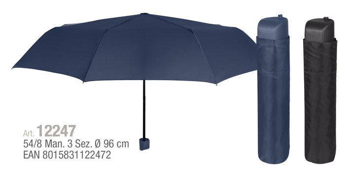 Paraguas hombre plegable 54/8 manual . color oscuro liso